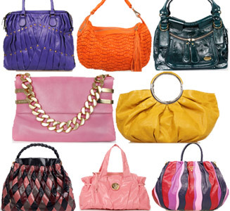 different color bags